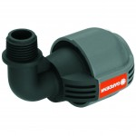 Gardena Compression Adapter Elbow 25mm x 1/2 inch Male Thread - 2780-20 Gardena Compression Fittings