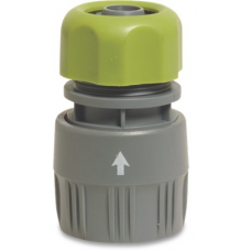 Hose connector with water stop Garden Systems Plastic Fittings