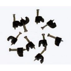 Pipe Clips 6mm Black Back of 10