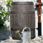 Burgundy Barrel 500 Litre Wood Effect Water Butt Rainwater Harvesting