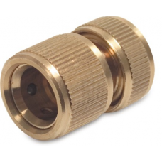 Brass Hose Connector with Water Stop for 0.75 inch Hose Brass Fittings