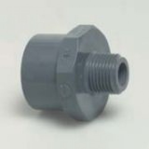 Pvc solvent weld adapter socket by male thread