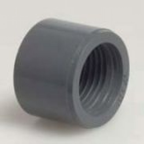 Pvc solvent weld adapter bush with female thread