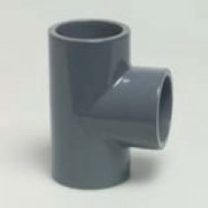 PVC Solvent Weld Equal Tee Metric PVC Pressure Fittings
