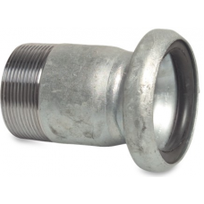 Bauer Type Female Part with Male Thread S75 Bauer Type Fittings
