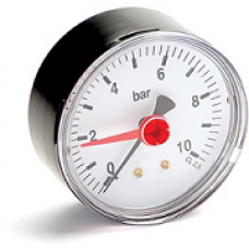 0 to 10 Bar Dry Pressure Gauge Back Entry